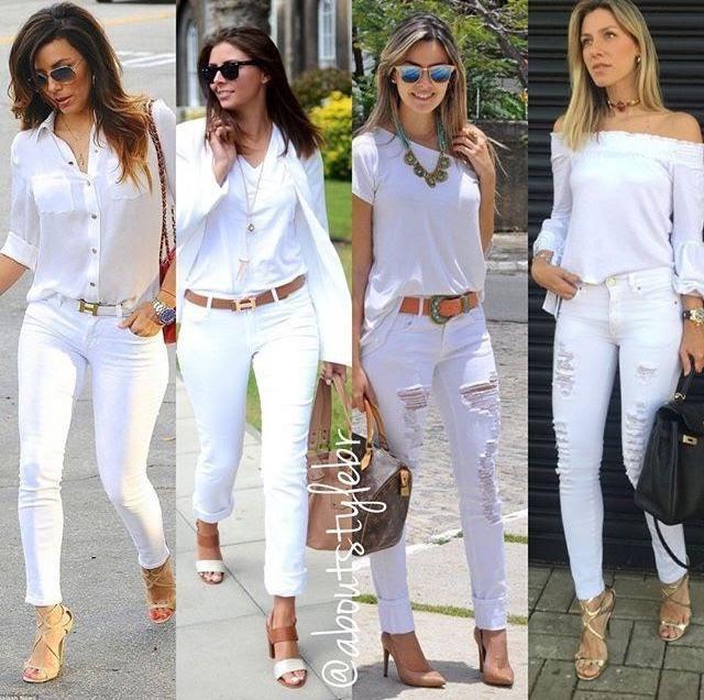 Muôn kiểu biến hóa thời trang chỉ với quần jeans trắng - ảnh 2
