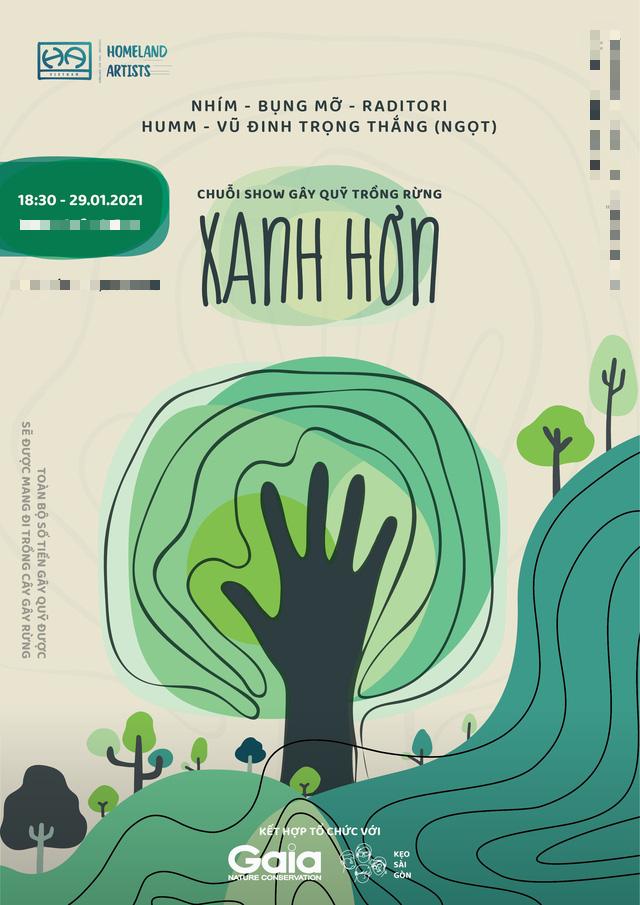 Gây quỹ trồng rừng với dự án XANH HƠN của các nghệ sĩ trẻ Việt Nam - Ảnh 1.