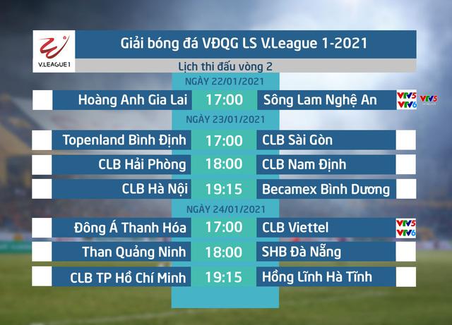Lịch thi đấu và trực tiếp vòng 2 V.League 2021 hôm nay: Hoàng Anh Gia Lai – Sông Lam Nghệ An (17h00 trên VTV5, VTV5 Tây Nguyên, VTV6 và ứng dụng VTV Sports) - Ảnh 1.