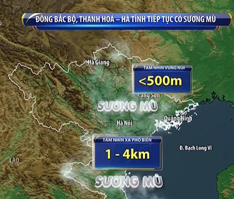 Sương mù ở Đông Bắc Bộ tiếp tục dày đặc, sắp đón đợt không khí lạnh mới - Ảnh 1.