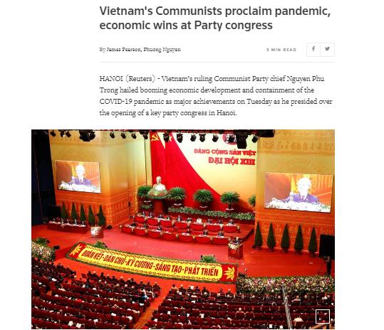 Truyền thông nước ngoài khẳng định những thành tựu của Việt Nam tại Đại hội XIII của Đảng - Ảnh 1.