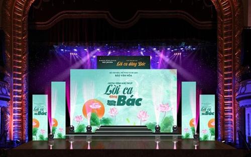 "The art performance ""Songs honoring Uncle Ho"" will be broadcast live (Photo: hanoimoi)"