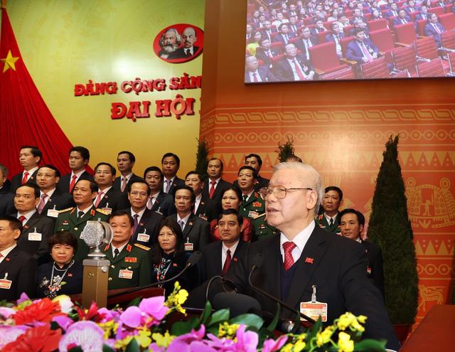 Thông qua Nghị quyết Đại hội đại biểu toàn quốc lần thứ XIII của Đảng - Ảnh 1.