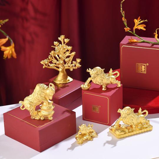 Trước ngày Thần Tài, trâu vàng 9999 tràn ngập thị trường - Ảnh 5.