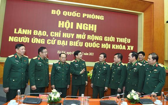 2 Thứ trưởng Bộ Quốc phòng được giới thiệu ứng cử đại biểu Quốc hội khóa XV - Ảnh 2.