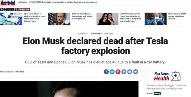 Thông tin Elon Musk qua đời trong một vụ nổ gây hoang mang mạng xã hội - Ảnh 1.
