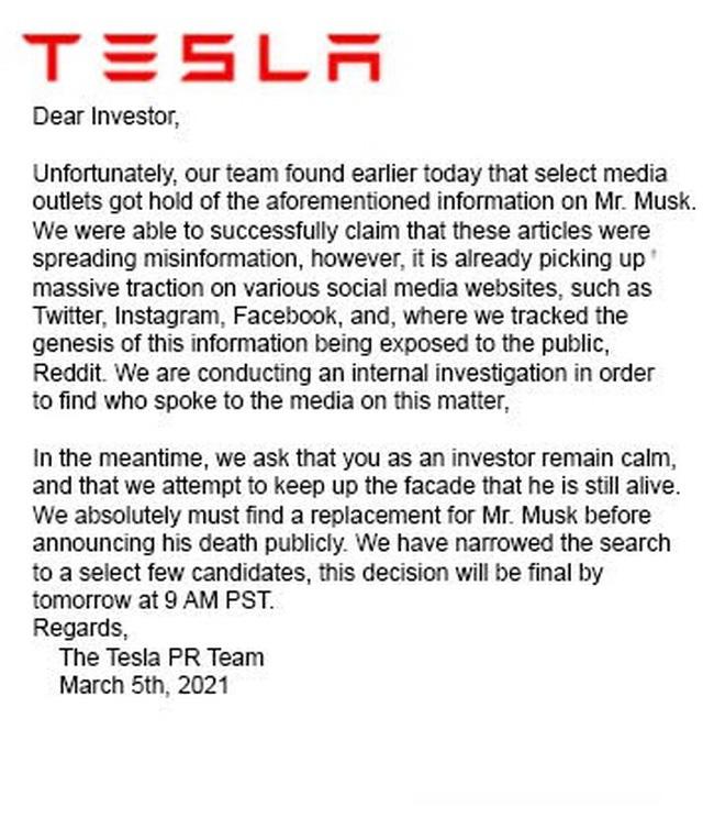 Thông tin Elon Musk qua đời trong một vụ nổ gây hoang mang mạng xã hội - Ảnh 2.