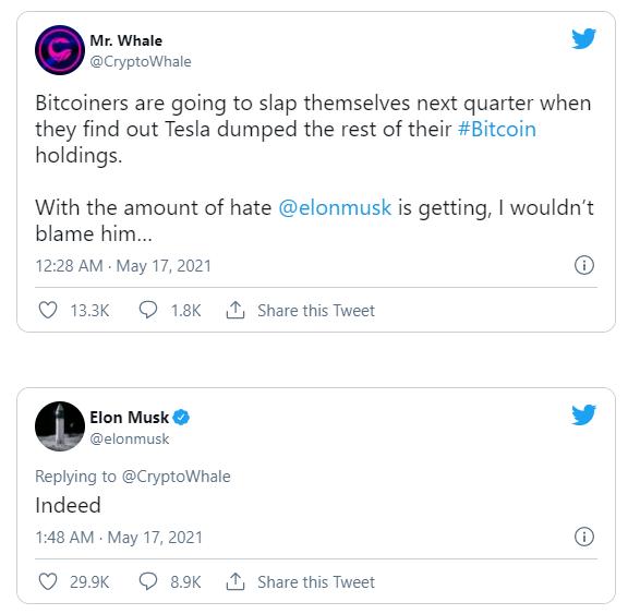 Elon Musk ám chỉ đã bán sạch Bitcoin - Ảnh 1.
