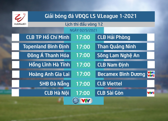 Kết quả Vòng 12 V.League 2021: HAGL 2-2 B.Bình Dương, SHB Đà Nẵng 1-2 Viettel, CLB Hà Nội 3-1 CLB Sài Gòn, CLB TP Hồ Chí Minh 3-0 CLB Hải Phòng - Ảnh 2.