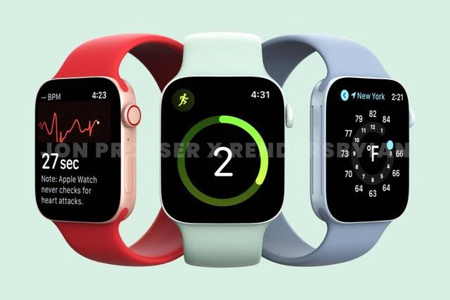 Apple Watch Series 7 lộ thiết kế hoàn toàn mới - Ảnh 1.