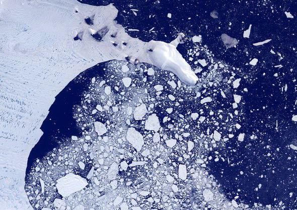 Tảng băng trôi lớn nhất thế giới vỡ ra từ thềm Nam Cực - ảnh 3