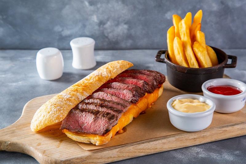 The Steak Sandwich by JW Marriott Hotel Hanoi. Photo courtesy of the hotel