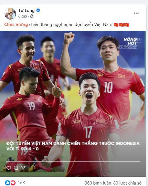 Sao Việt tưng bừng chúc mừng đội tuyển Việt Nam chiến thắng - Ảnh 10.