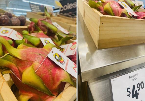 Thanh long Việt Nam bán tại Australia giá 80.000 đồng/quả - Ảnh 1.