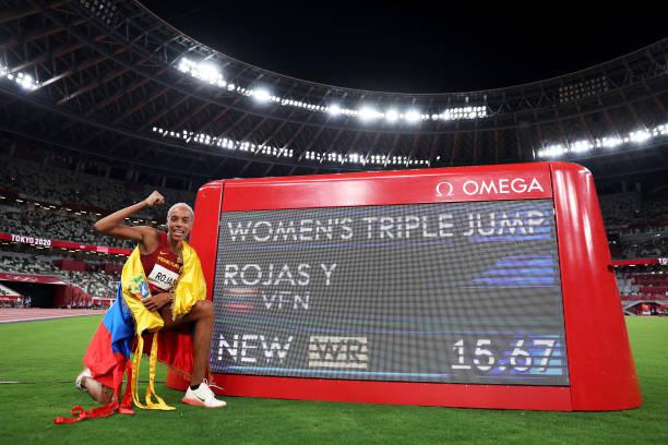Olympic Tokyo 2020   VĐV điền kinh Venezuela phá kỷ lục Thế giới nội dung nhảy 3 bước nữ - Ảnh 4.