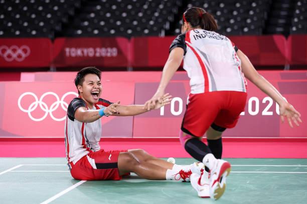 Olympic Tokyo   Indonesia giành HCV môn cầu lông - Ảnh 1.