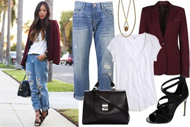 mặc đẹp với quần jean