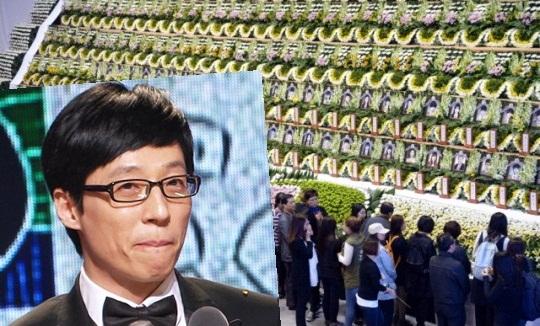 MC quốc dân Yoo Jae Suk lặng lẽ đến tưởng niệm nạn nhân chìm