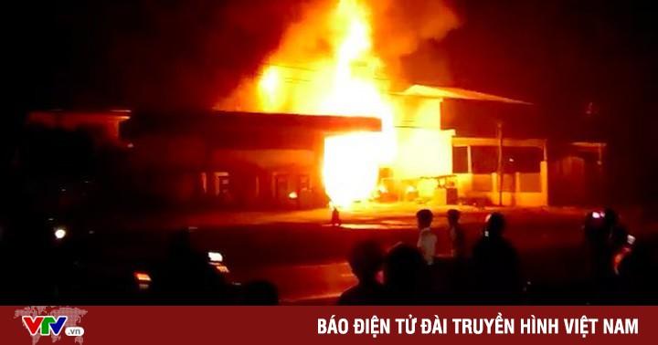 Cháy cây xăng tại Đăk Lăk, một người bị bỏng nặng