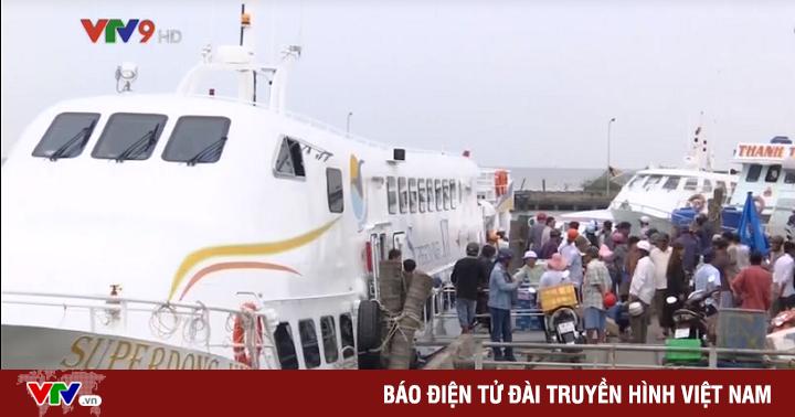 Tàu cao tốc ra Nam Du và Phú Quốc (Kiên Giang) ngừng hoạt động do bão