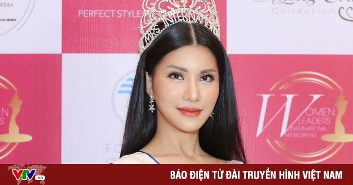Hoa hậu Quý bà quốc tế 2018 Loan Vương khoe sắc vóc rạng ngời