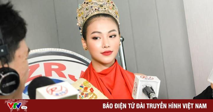 """Hoa hậu Trái đất Phương Khánh đẹp """"hút hồn"""" phủ sóng truyền thông Philippines"""