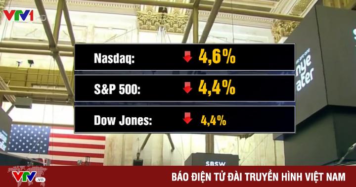 Chứng khoán Mỹ giảm điểm mạnh nhất trong lịch sử giao dịch