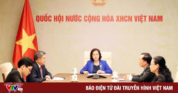 Ctqh Nguyễn Thị Kim Ngân Điện Đàm Với Chủ Tịch Quốc Hội Lào