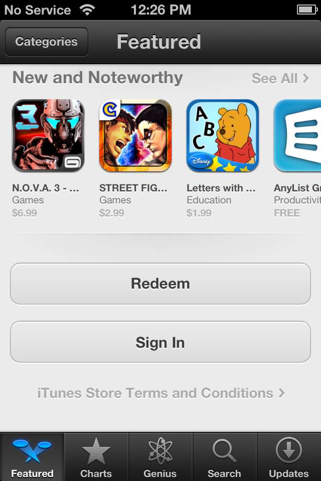 Chọn mục Featured trên App Store