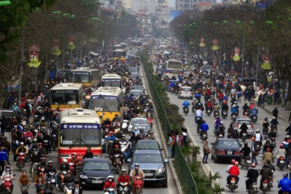 Cấm ôtô trên đường Xuân Thủy, Cầu Giấy: Chưa thể thực hiện