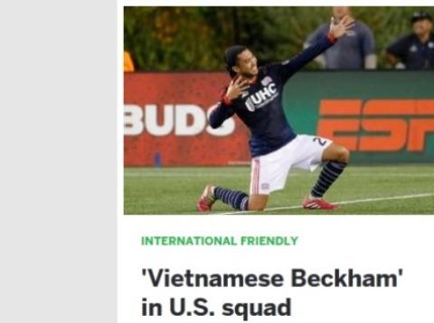 Trang ESPN gọi Lee Nguyễn là Beckham của Việt Nam