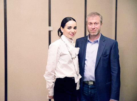 Một bức ảnh khá tình tứ của Abramovich và Diana Vishneva.