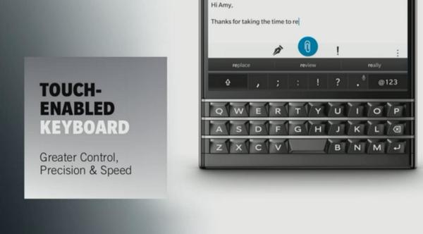 Các tiêu chí mô tả bàn phím của BlackBerry Passport