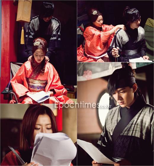 Cặp đôi cùng nhau đọc kịch bản phim trước mỗi cảnh quay.