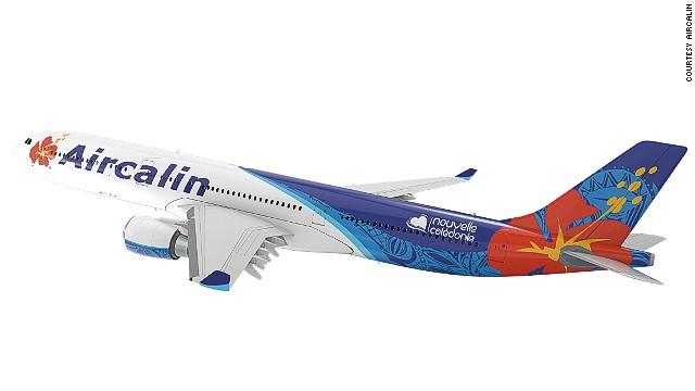 Máy bay hãngCaledonia airlines.