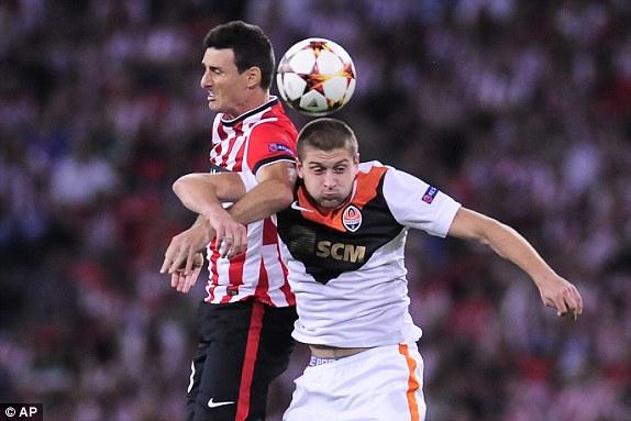 Athletic Bilbao và Shakhtar có một ngày bất phân thắng bại tại San Mames.