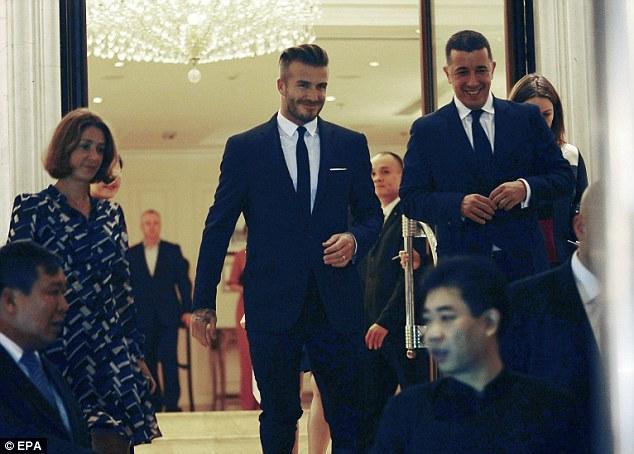Beckham đã đến Việt Nam từ chiều tối ngày 10/11.