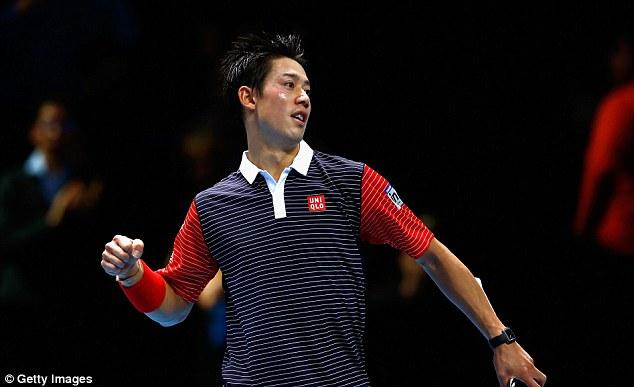 Kei Nishikori là tay vợt thứ 2 giành quyền vào bán kết tại bảng B