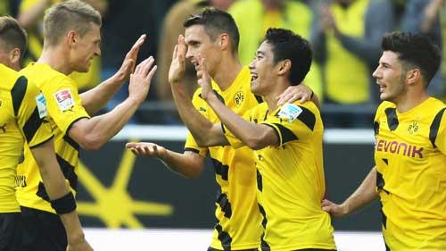 Kagawa vừa có màn ra mắt ấn tượng tại Dortmund.
