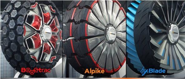Ba mẫu thiết kế lốp xe thông minh của Hankook Tire