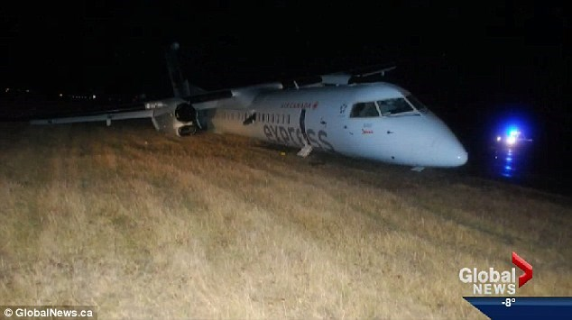 Đây không phải lần đầu loại máy bay này gặp tai nạn do bộ phận cất/hạ cánh. (Nguồn: dailymail.co.uk)