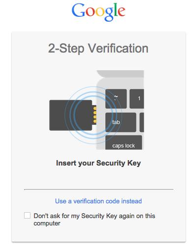 Người dùng chỉ cần cắm chiếc USB bảo mật để hoàn thành lớp bảo mật thứ hai