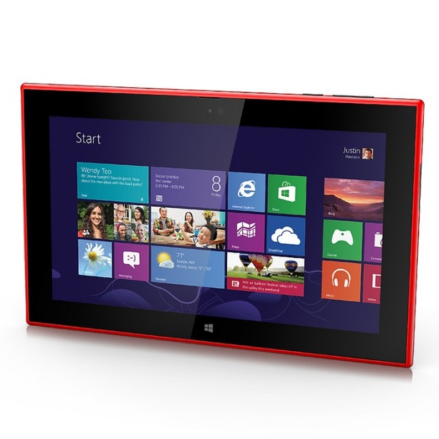 Lumia 2520 có thiết kế bắt mắt (Ảnh: PhoneArena)