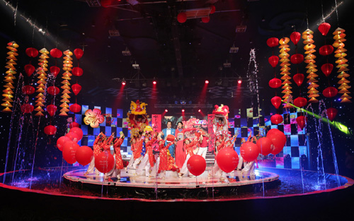 Toàn cảnh sân khấu chương trình Hương Tết Việt