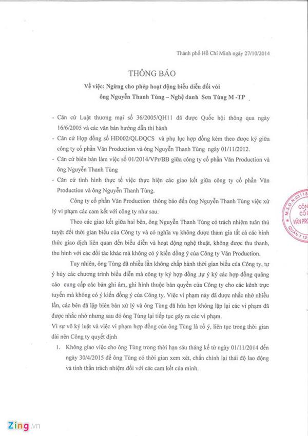Sơn Tùng MTP bị công ty quản lý cấm diễn 6 tháng