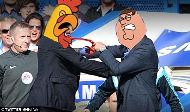 Vụ xô xát giữa Wenger và Mourinho gợi nhớ tới những nhân vật trong bộ phim hoạt hình Family Guy.