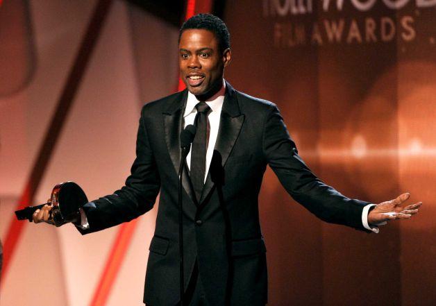 Chris Rock sung sướng khi nhận giải Phim hài xuất sắc nhất