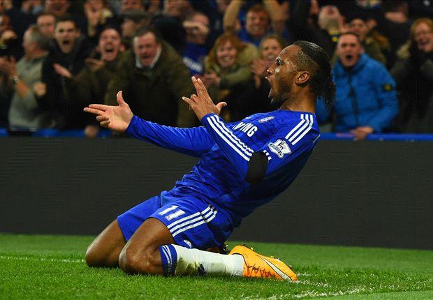Didier Drogba ghi bàn giúp Chelsea có chiến thắng 3-0