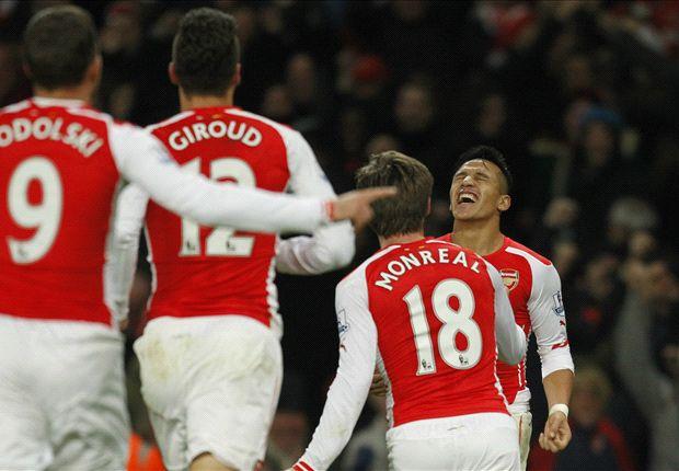 Alexis Sanchez ghi bàn ở phút 89