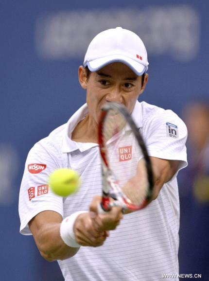 Sức mạnh của Cilic đã hạn chế khá nhiều lối đánh tinh tế của Kei Nishikori.